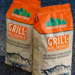 2 Säcke Grill-Holzkohle Biomassehof Allgaeu e.G.