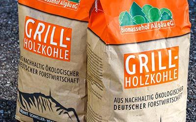Die Grillholzkohle vom Biomassehof